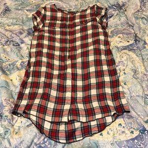 Zadig Voltaire plaid shirt dress size S